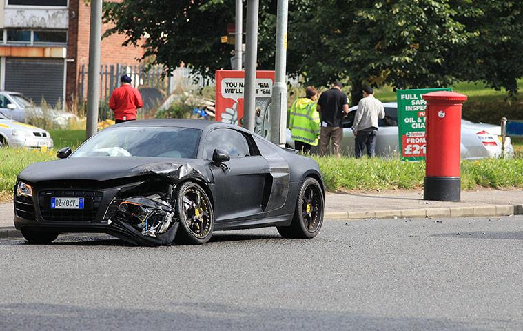 Mario Balotelli Car Crash