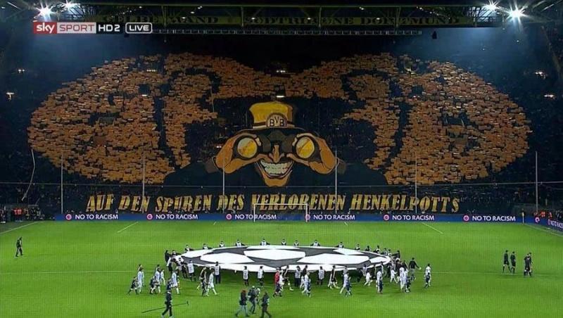 coreografia Borussia Dortmund Champions