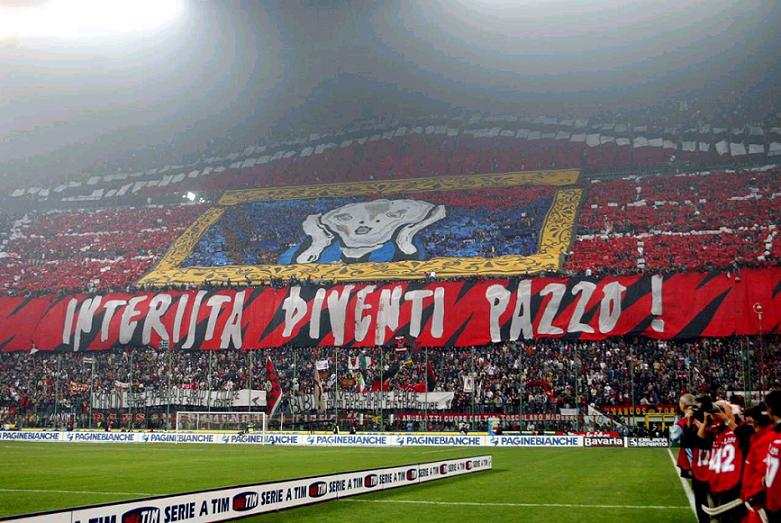 coreografia Milan derby