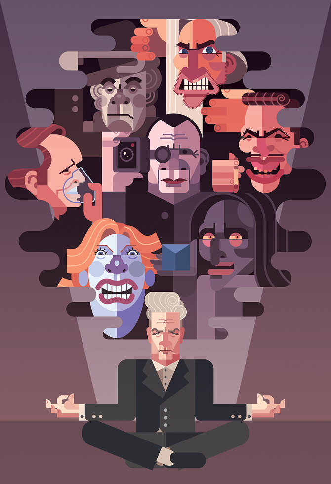 David Lynch villains by Daniel Nyari