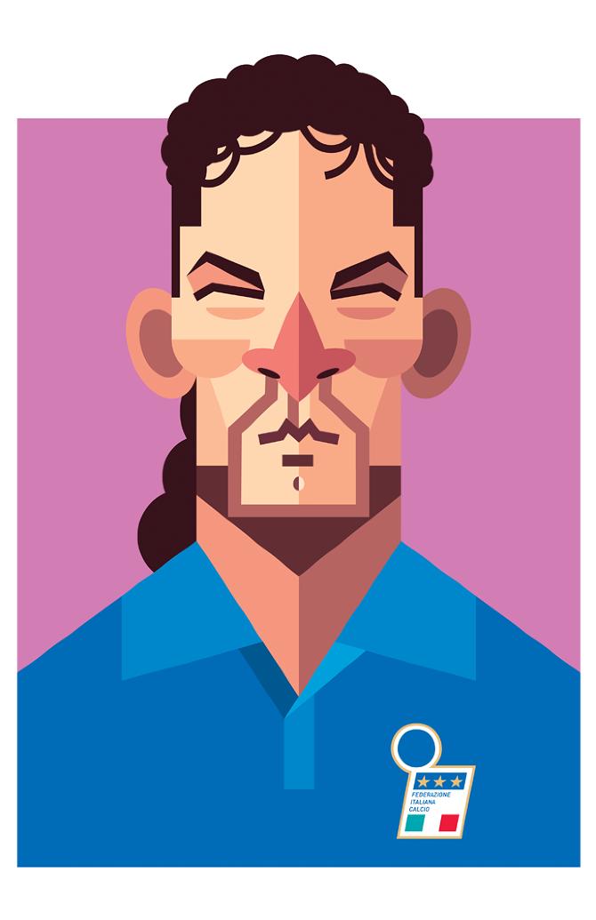 Roberto Baggio by Daniel Nyari, playmakers