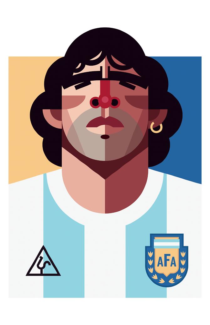 Diego Armando Maradona by Daniel Nyari, playmkers