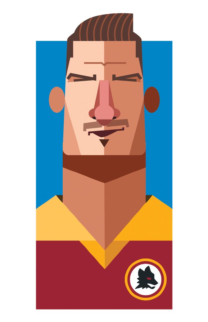 Francesco Totti by Daniel Nyari.