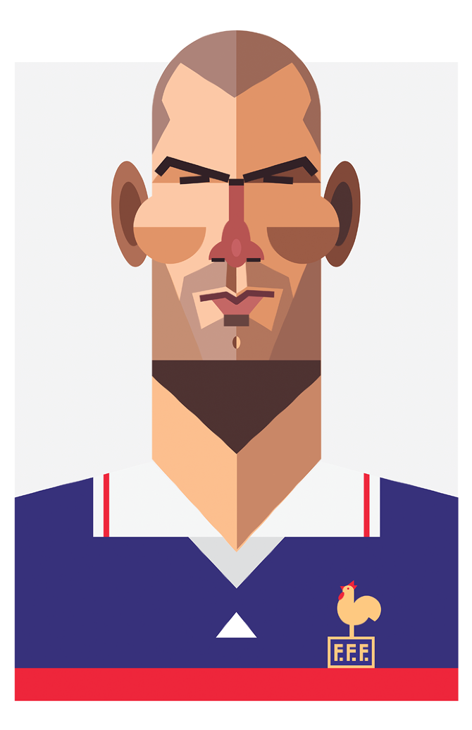 Zidane by Daniel Nyari, playmakers
