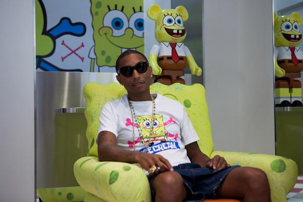 pharrell con spongebob