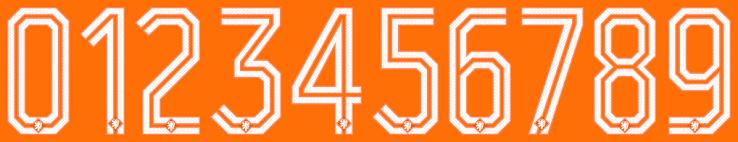 nuovo font della maglia olandese