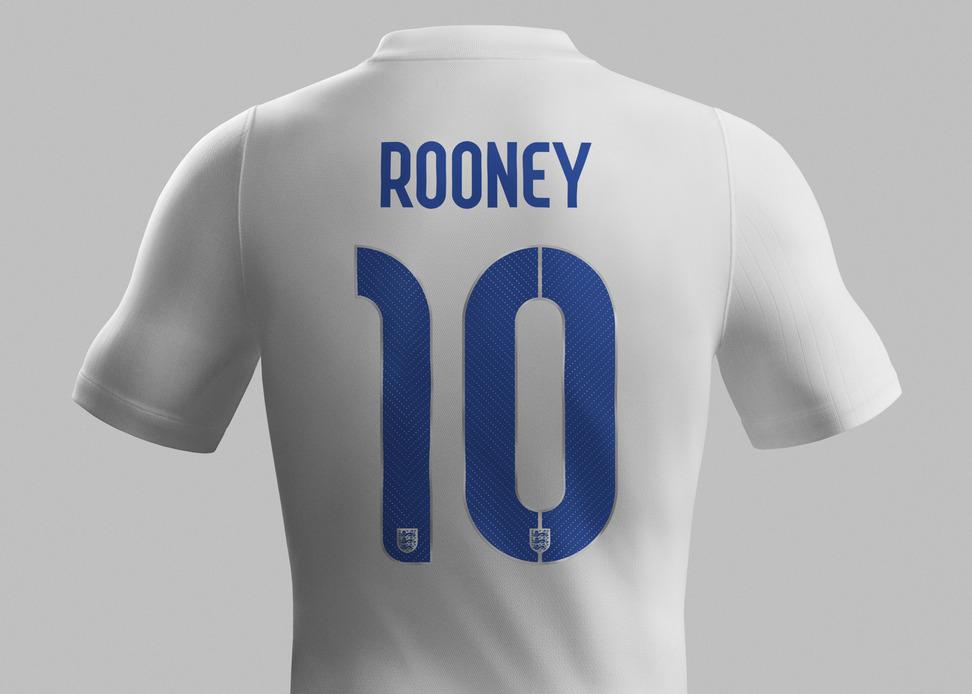 il font della nuova maglia della nazionale inglese