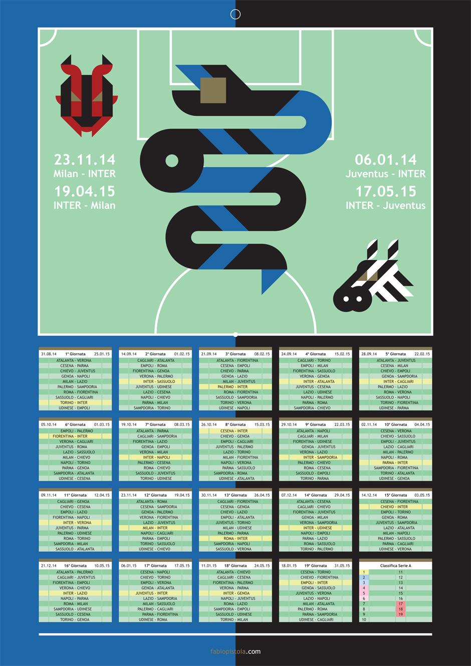 Il Calendario di Serie A 2014/15