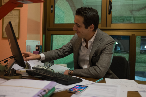 Romain Sanviti di Postgol al lavoro