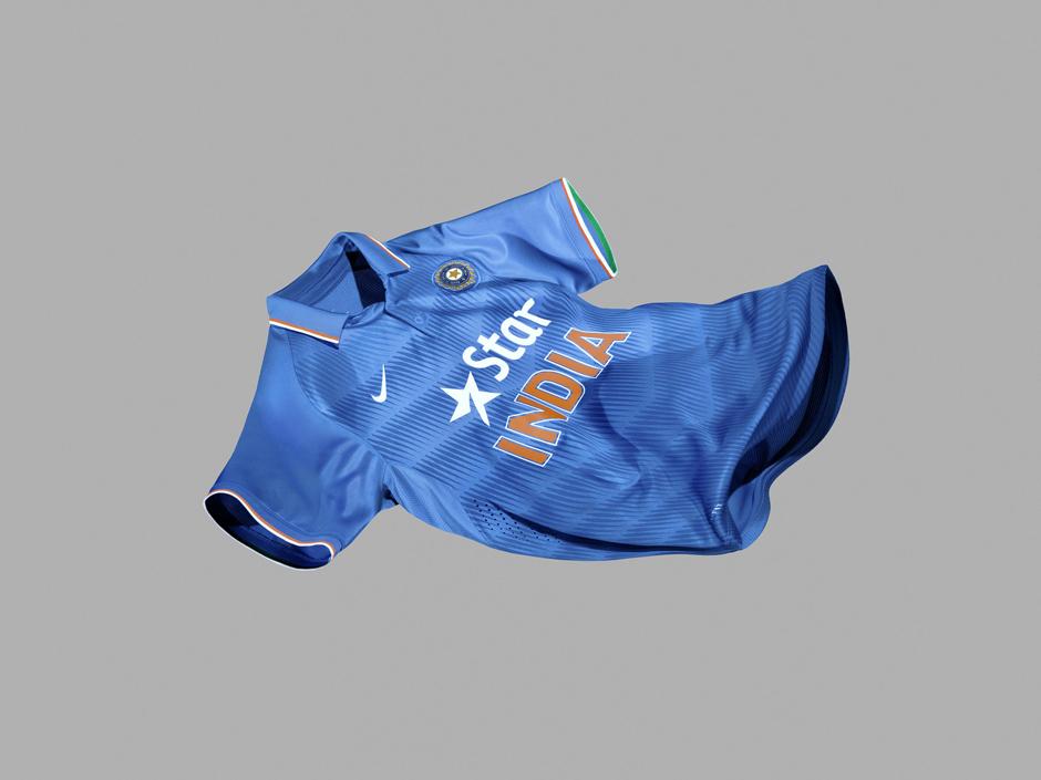 la maglia nike della nazionale indiana di cricket
