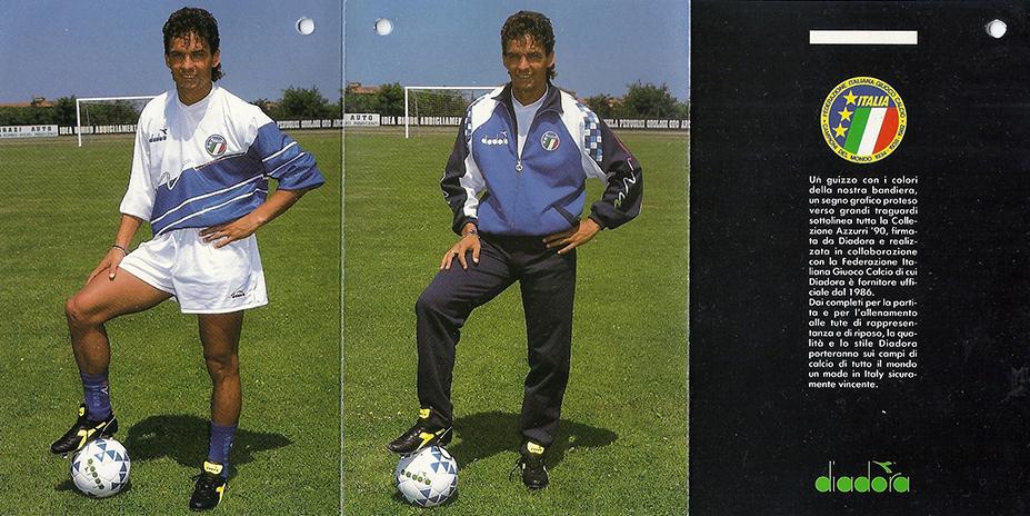Diadora ripropone l'outfit di Italia '90 Marte