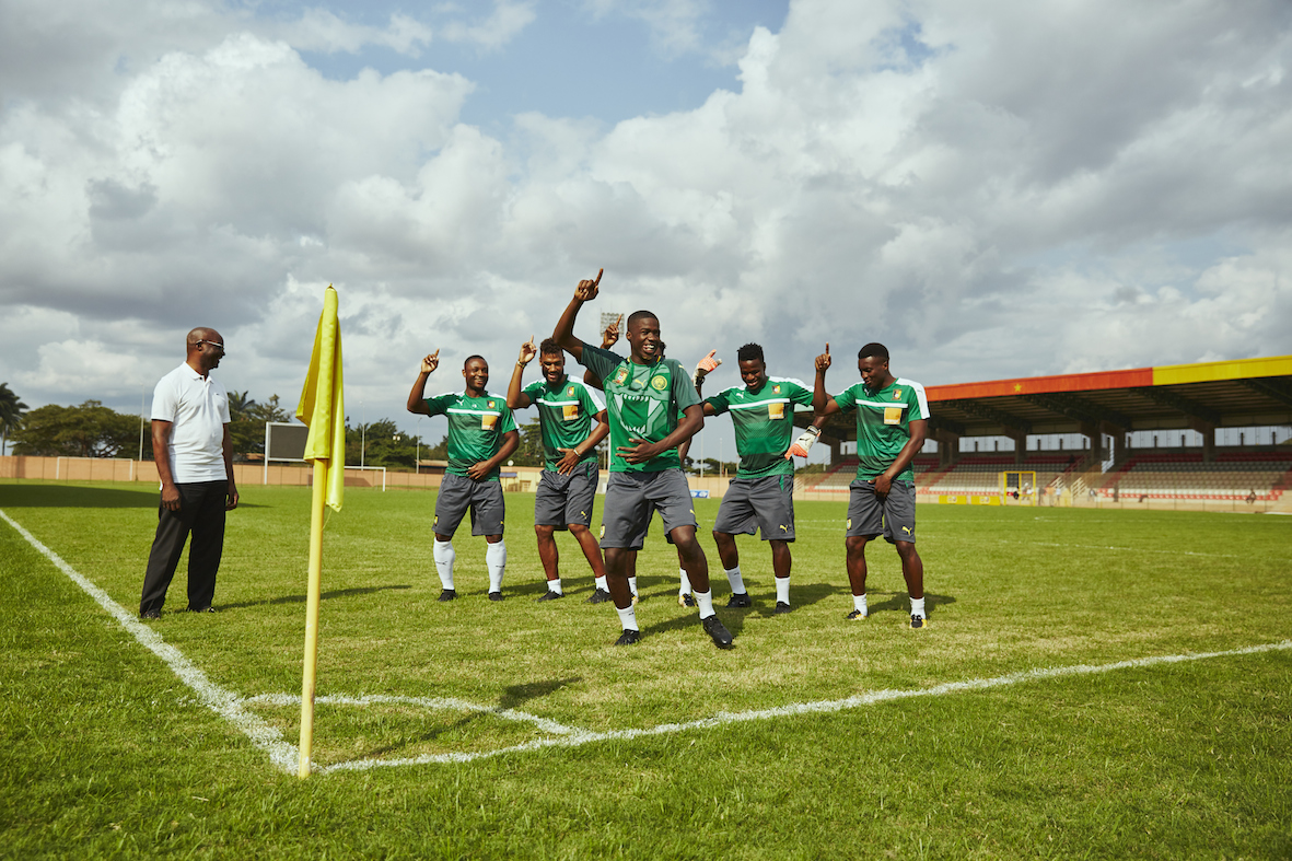 MHD and Cameroon squad and Roger Milla