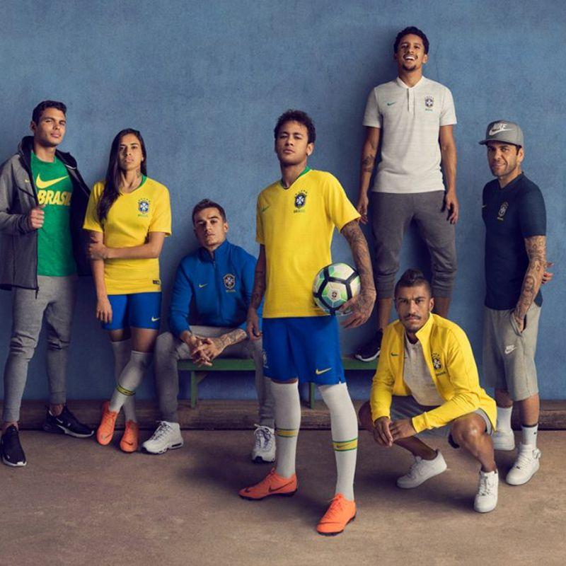 I kit Nike 2018 del Brasile