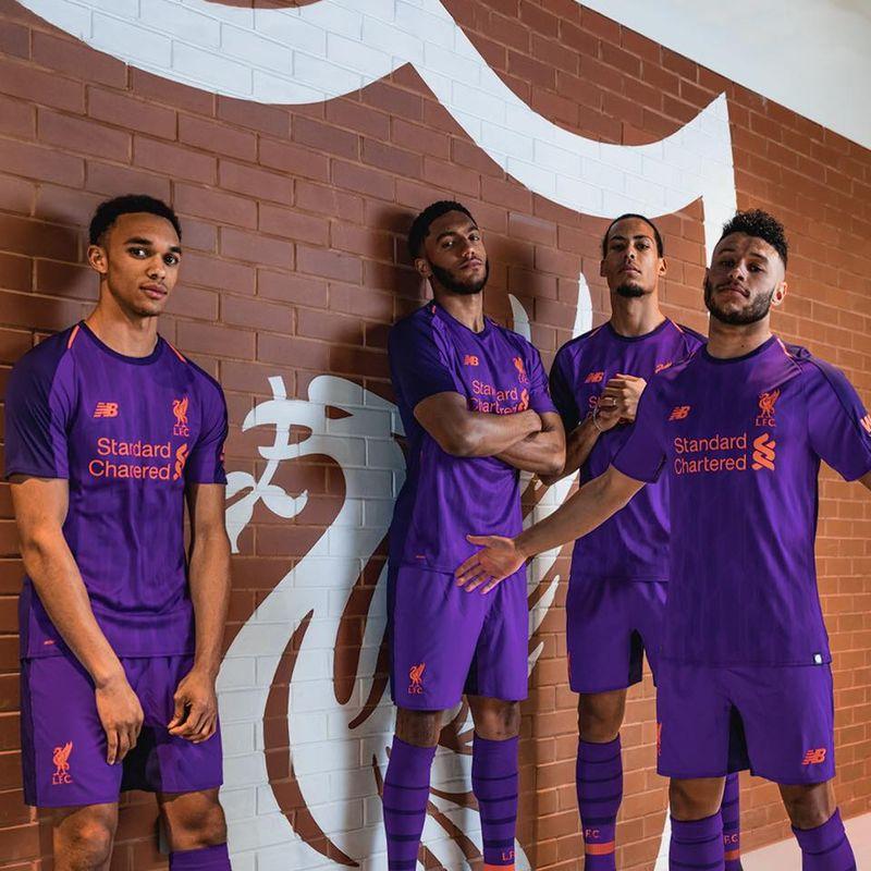 Il kit viola del Liverpool