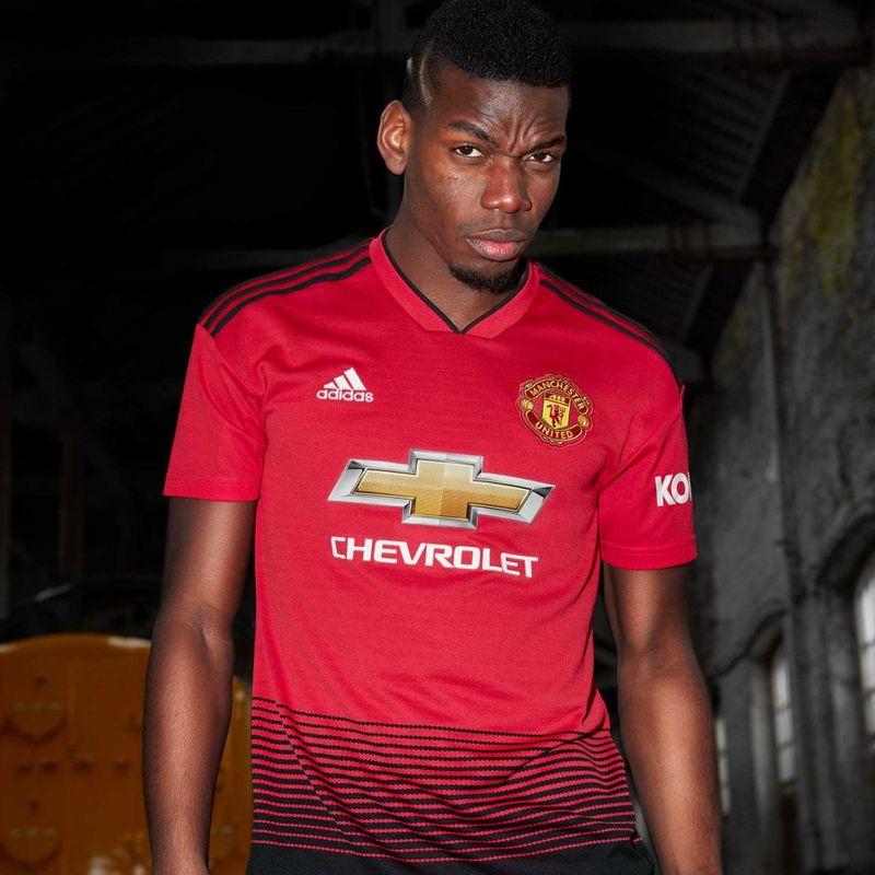 La maglia adidas 2018/19 del Manchester United