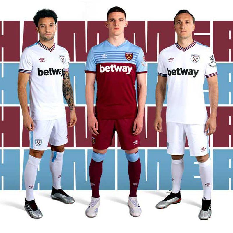 Umbro presenta i kit 2019/20 del West Ham