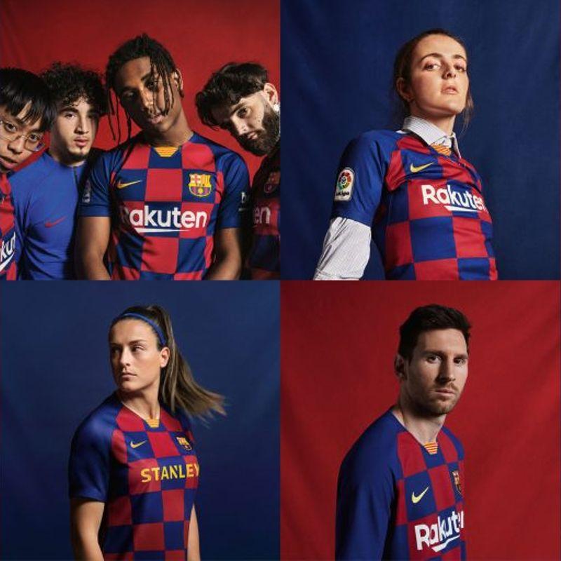 Nike presenta la nuova maglia del Barcellona a quadretti