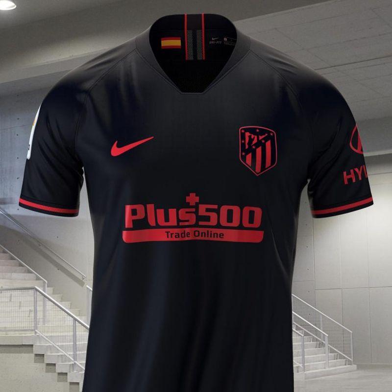 La maglia away rossonera dell'Atlético Madrid